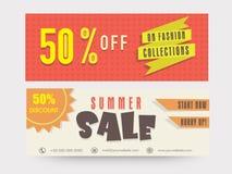Summer sale website header or banner set. Stock Photo