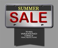 Summer sale this weekend vector illustration eps10. Background business buy commercial design discount eps10 graphic illustration isolated letters market number Royalty Free Stock Photos