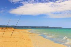 SUMMER Salento coast: Pescoluse beach (Lecce). ITALY (Apulia). Stock Photography