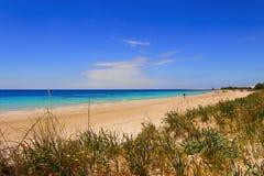 SUMMER Salento coast: Pescoluse beach (Lecce). ITALY (Apulia). Royalty Free Stock Image