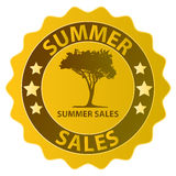 Summer sales badge Royalty Free Stock Image