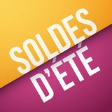 Summer Sales in French : Soldes d'été. Vector illustration Stock Images