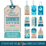 Summer Sales Hang Tags Royalty Free Stock Image