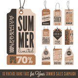 Summer Sales Hang Tags Stock Photos