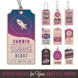 Summer Sales Hang Tags Stock Images