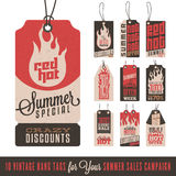 Summer Sales Hang Tags Royalty Free Stock Images