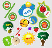 Summer sales icons vector illustration