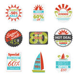 Summer sales labels Stock Photography