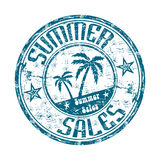 Summer sales rubber stamp Royalty Free Stock Image