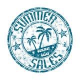 Summer sales rubber stamp stock illustration