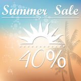 Summer sales Stock Illustration