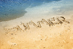 Summer on  sand Royalty Free Stock Images