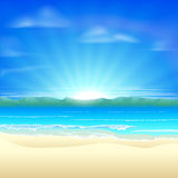 Summer sand beach background Royalty Free Stock Images