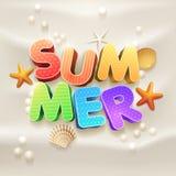 Summer on the sand vector illustration