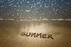 Summer sand handwriting Royalty Free Stock Images