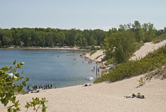 Summer, sand and lake royalty free stock photo