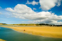 Summer and sand at padstow. The sandy beach at padstow in the summer Royalty Free Stock Images
