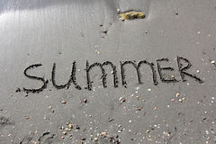 Summer on sand Royalty Free Stock Photography