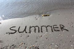 Summer on sand Royalty Free Stock Image