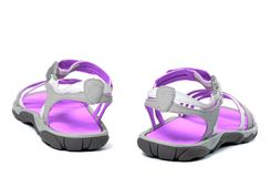 Summer sandals. Back view. Stock Photography