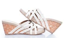Summer sandals on cork base Stock Image