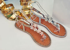Summer sandals Stock Images