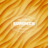 Summer sandy background Stock Image