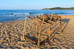 Summer sandy beach in Bulgaria. Stock Photo