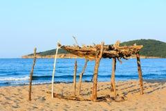 Summer sandy beach in Bulgaria. Royalty Free Stock Photography
