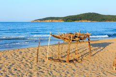 Summer sandy beach in Bulgaria. Royalty Free Stock Images