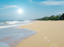 Summer with sandy beach on Sri Lanka Stock Photography