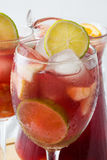 Summer sangria on tablecloth Royalty Free Stock Images