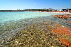 Summer in Sardinia. View from Porto Istano in Sardinia, summer royalty free stock photos