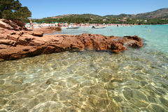 Summer in Sardinia. View from Porto Istano beach in Sardinia, summer royalty free stock photo