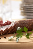 Summer sausage Stock Images