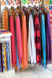 Summer scarfs at shop Royalty Free Stock Image