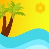Summer scene stock illustration
