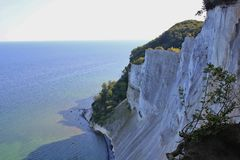 Moens Klint and Baltic sea. Royalty Free Stock Photography