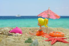 Summer beach scene Stock Image