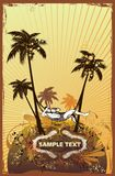 Summer scene-illustration vector illustration