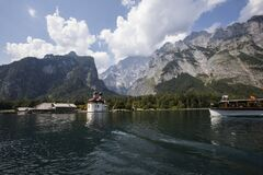 Free Summer Scene In Konigsee Lake, Bavaria, South Germany. Europe Stock Images - 191418574