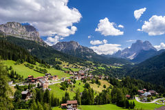 Summer scene in Italian Dolomites Royalty Free Stock Photography