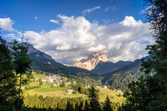 Summer scene in Italian Dolomites Stock Images