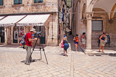 Summer scene of the main street in Dubrovnik, Croatia Royalty Free Stock Image