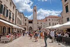 Summer scene of the main street in Dubrovnik, Croatia Stock Photography