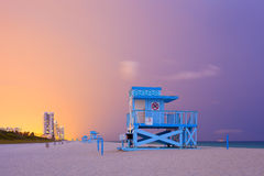 Summer scene in Miami Beach Florida Royalty Free Stock Images