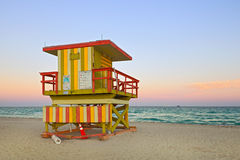 Miami beach Florida lifeguard house Stock Photo