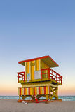 Miami beach Florida lifeguard house Royalty Free Stock Photo