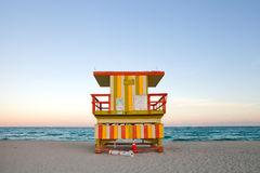 Miami beach Florida lifeguard house Stock Image