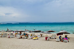 Summer Scene. Nice Beaches in Izmir,Turkey Royalty Free Stock Photography